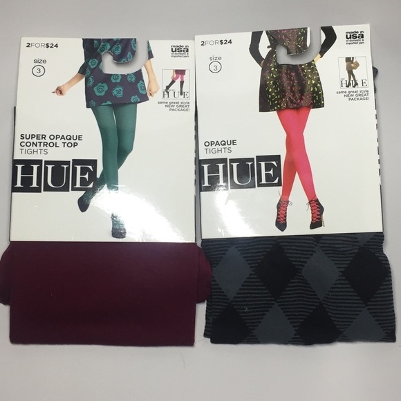 b56a63c794240 HUE Accessories | 2 Pairs Of Opaque Tights A14 | Poshmark